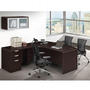 Bow Front L Shape Desk