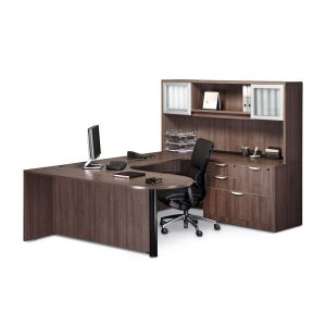 Classic Bullet Desk Executive Workstation