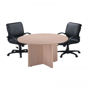 Classic Round Conference Tables with Cross Base