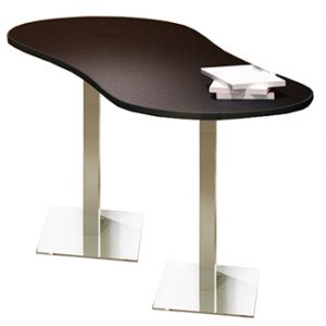 Bistro - Peanut Table Stainless Steel Base