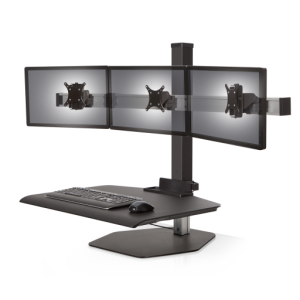 Winston Workstation Triple Freestanding Sit-Stand