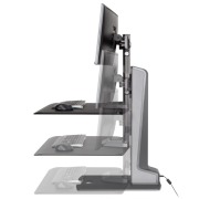 Winston-E Sit-Stand Workstation Dual Monitor Mount