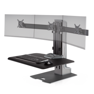 Winston-E Sit-Stand Workstation Triple Monitor Mount