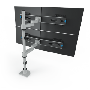 9112-Switch-D-FM - Articulating Two-Tier Quad Monitor Mount