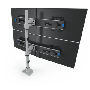 9136-Switch-D-FM - Two-Tier Quad Monitor Mount